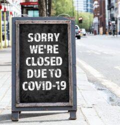 Lockdown closed retail store COVID19